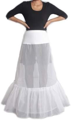 XYX petticoat wedding petticoat slip underskirt hoops Lycra waist A-line 2-hoop