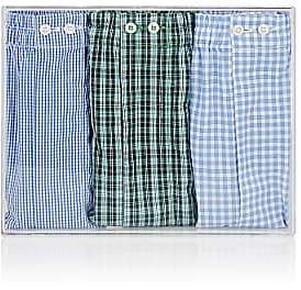 Barneys New York Men's Cotton Boxer Shorts Set - Assorted