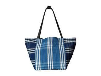 Elizabeth and James Indigo Patchwork Fortune Tote Tote Handbags