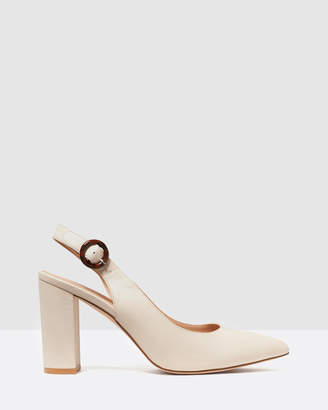 Forever New Tia Slingback Block Heel Court Shoes