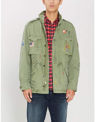 c9ed6088c Polo Ralph Lauren High-neck embroidered printed cotton military jacket