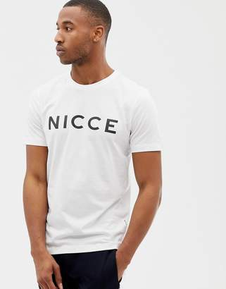 Nicce London t-shirt in white with logo