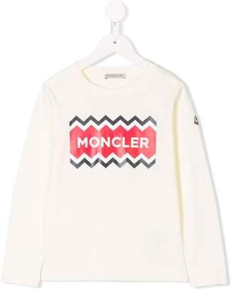 Moncler zig-zag logo top