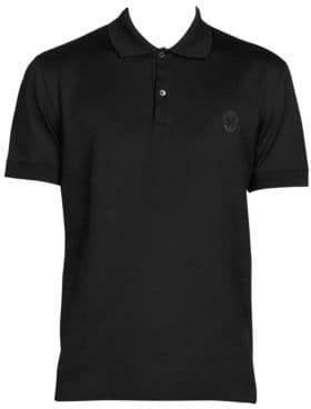Alexander McQueen Spread Collar Cotton Polo