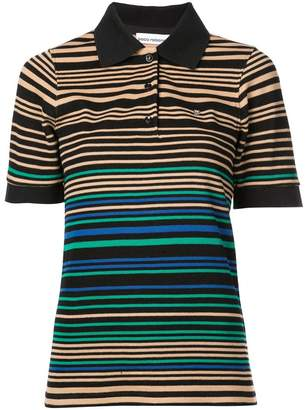 Paco Rabanne stripe polo top