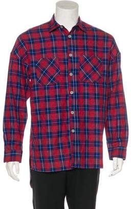 Fear Of God Woven Flannel Shirt