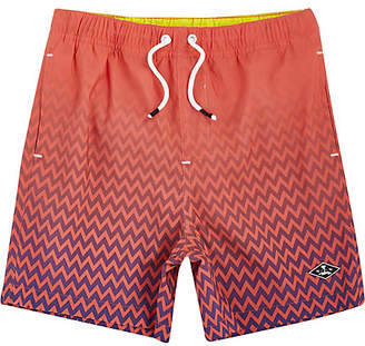 River Island Boys Orange fade print swim shorts