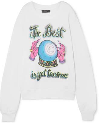Amiri Printed Cotton-jersey Sweatshirt - White