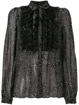 Giambattista Valli lace ruffle detail shirt
