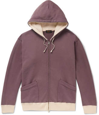 Chimala Contrast-Trimmed Loopback Cotton-Jersey Hoodie