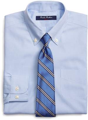 Brooks Brothers Boys' Mini Houndstooth Dress Shirt