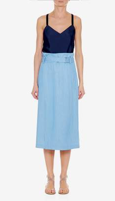 Tibi Chambray Wrap Skirt