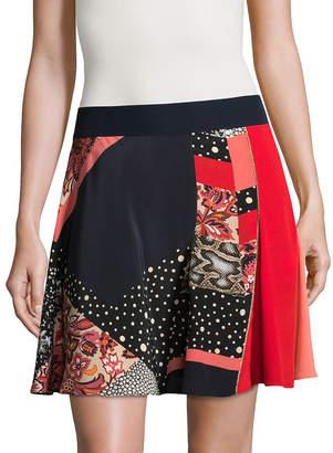 Roberto Cavalli Multi-Print Skirt