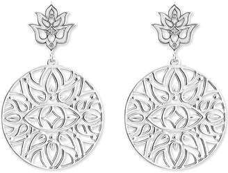 Thomas Sabo Mandala sterling silver and diamond drop earrings