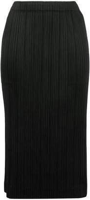 Pleats Please Issey Miyake micro pleated pencil skirt