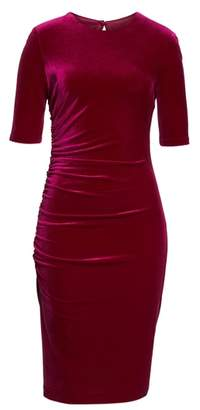 Vince Camuto Elbow Sleeve Velvet Sheath Dress