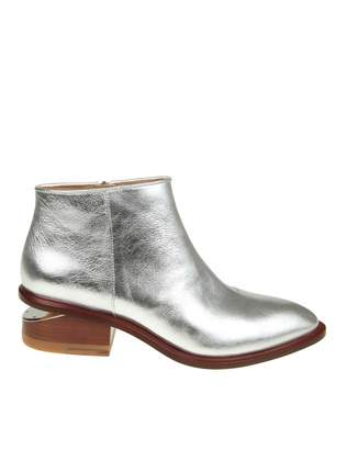 Alexander Wang kori Ankle Boot In Silver Leather