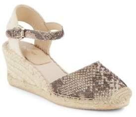 Elia Leather Espadrille Wedge Sandals