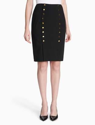 Calvin Klein luxe button skirt