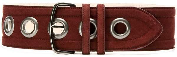 Women's Suede & Gunmetal Grommet Waist Belt