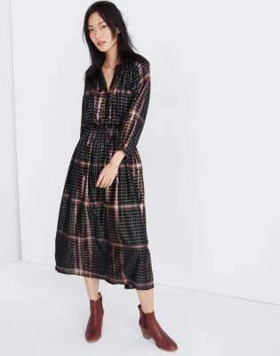 c939a313906 Madewell Apiece Apart Plaid Valentijn Dress