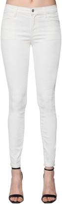 J Brand Super Skinny Coated Cotton Denim Jeans