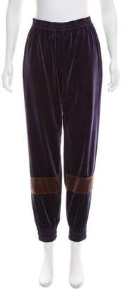Koché High-Rise Velvet Sweatpants