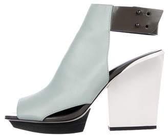 3.1 Phillip Lim Leather Platform Slingback Sandals
