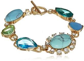 Carolee Turquoise Garden Collection Women's 7.5 inches Stone Flex Bracelet Bracelet