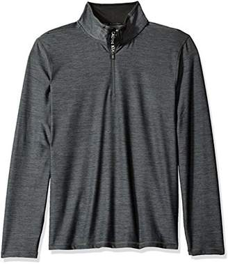 Calvin Klein Men's Long Sleeve Jacquard 1/4 Zip Knit
