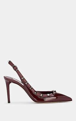 Valentino Garavani Women's Rockstud Leather Slingback Pumps - Wine