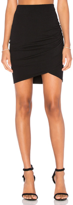 Michael Stars Cross Front Mini Skirt $78 thestylecure.com