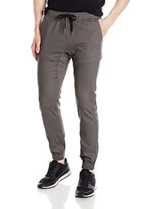 Brooklyn Athletics Men's Twill Jogger Pants Soft Stretch Slim Fit Trousers