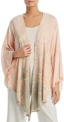 XCVI Frayed Tie-Dye Kimono