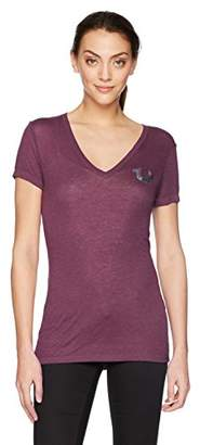 True Religion Women's Buddha Rose Logo Burnout T-Shirt