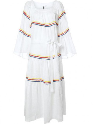 Lisa Marie Fernandez peasant maxi dress $1,025 thestylecure.com