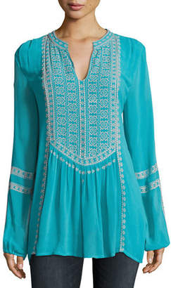 Tolani Lauren Embroidered Boho Blouse