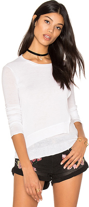 Inhabit Layered Crew Neck Sweater in White $220 thestylecure.com