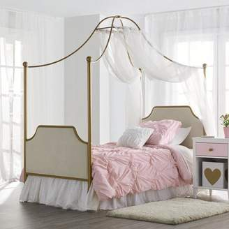 Little Seeds Monarch Hill Clementine Canopy Bed, Gold - Twin