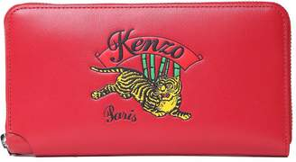 Kenzo Jumping Tiger Leather Wallet