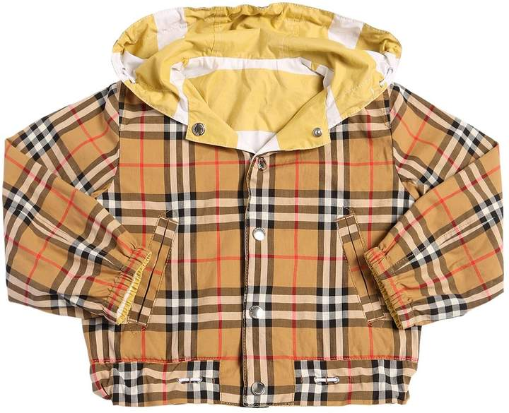 Reversible Check Cotton Gabardine Jacket