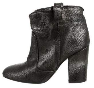 Laurence Dacade Distressed Leather Ankle Boots