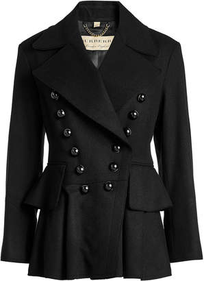 Burberry Double Breasted Wool Jacket