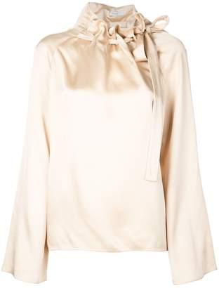 Rosetta Getty tie neck blouse