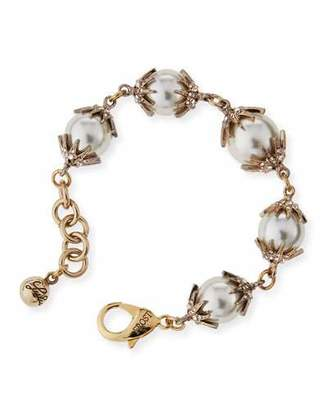 Lulu Frost Electra Pearly Crystal Cap Bracelet $238 thestylecure.com