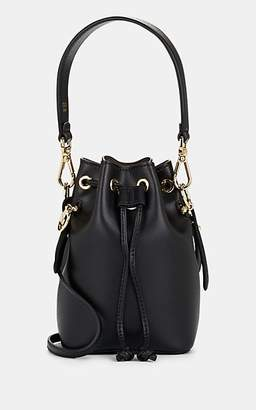 Fendi Women's Mon Tresor Mini Leather Bucket Bag - Black