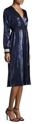 Robert Rodriguez Sequin Robe Wrap Dress