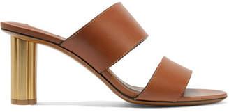 Salvatore Ferragamo Molveno Leather Sandals - Tan