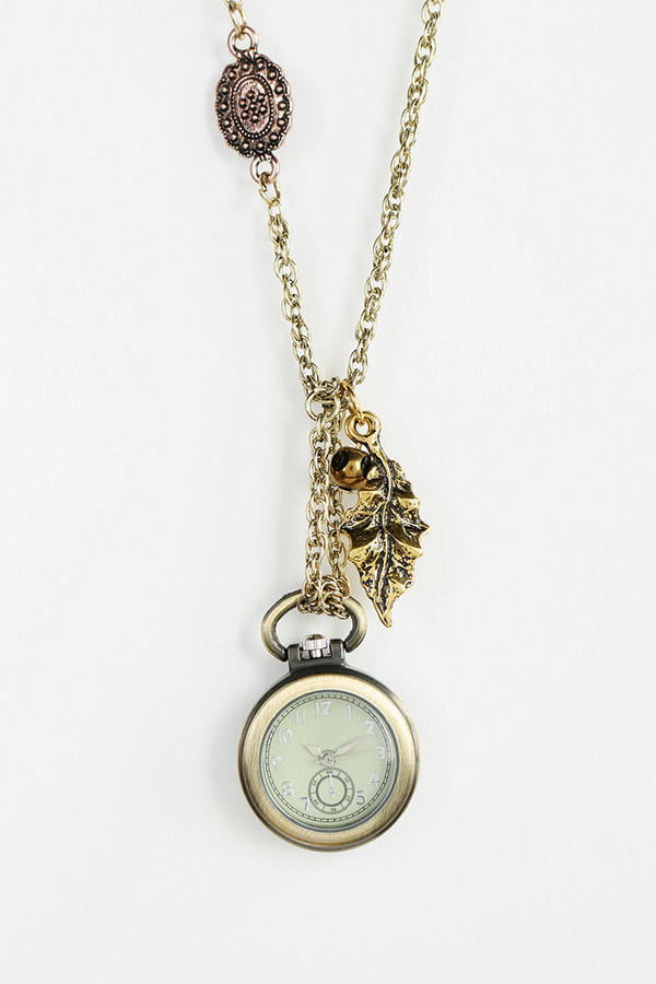 Urban Outfitters Time's Up Watch Pendant Necklace