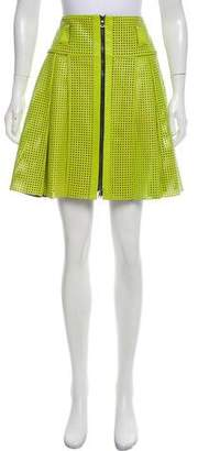 Proenza Schouler Laser Cut Leather Skirt